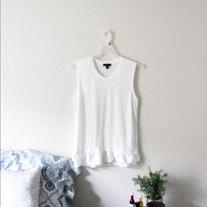J.Crew | Casual Sleeveless White Top